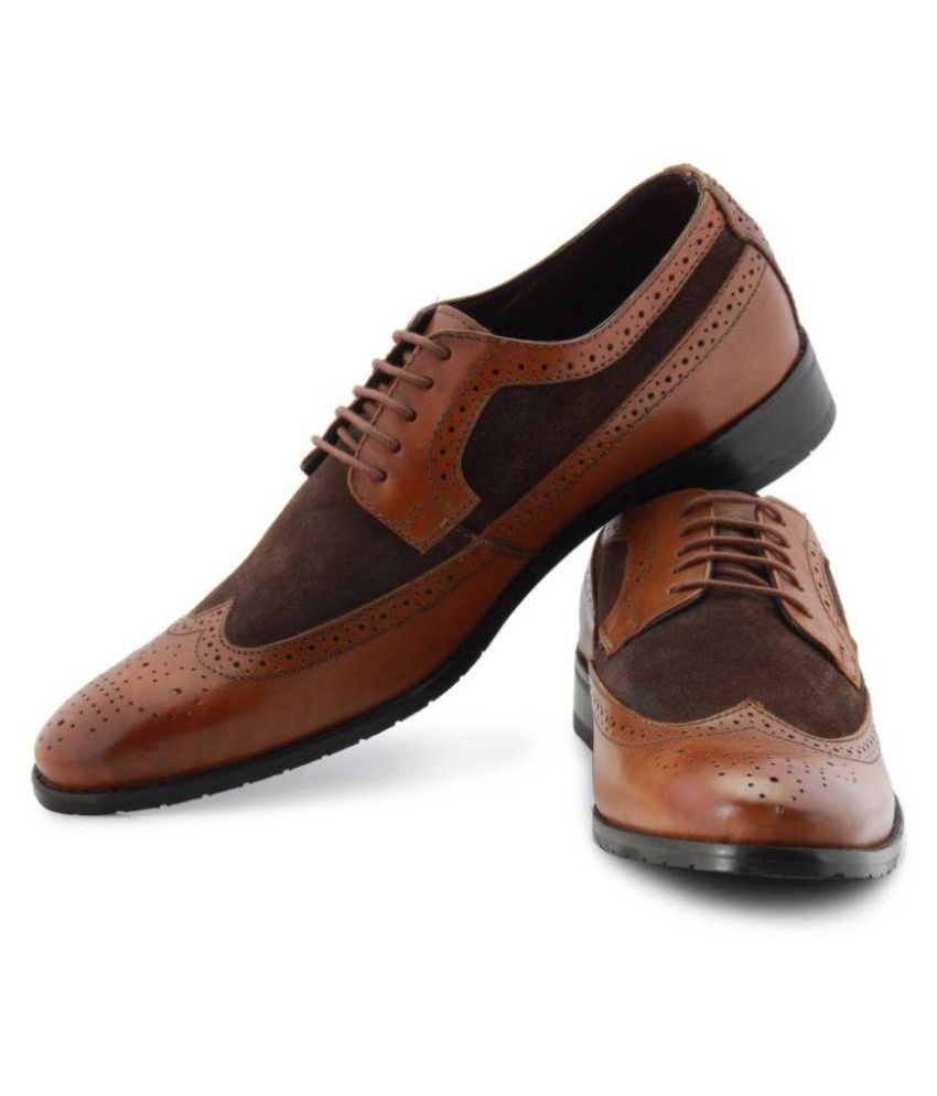 2ad0eef8d9ef4 Blackberry Brown Brogue Genuine Leather Formal Shoes Price in India- Buy  Blackberry Brown Brogue Genuine Leather Formal Shoes Online at Snapdeal