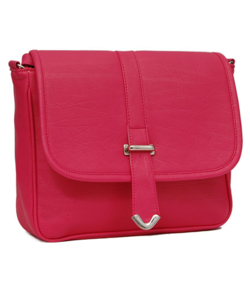 Borse Bag In Silicone : Borse pink faux leather sling bag buy