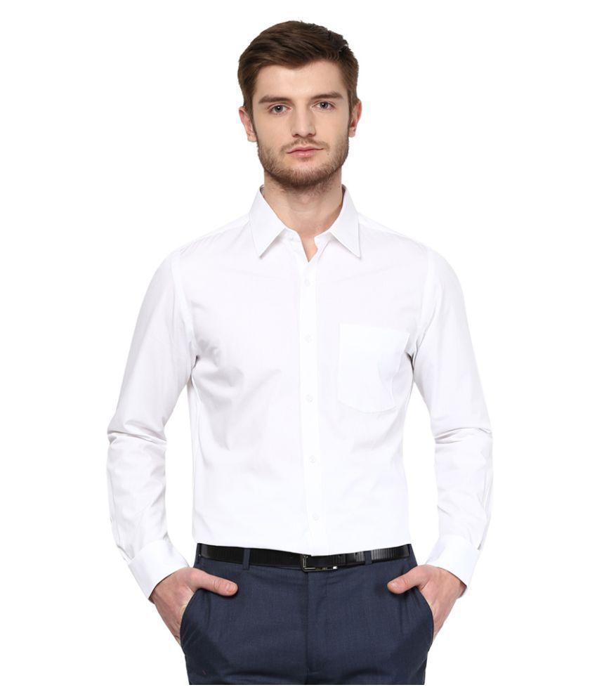 Turtle white formal slim fit shirt buy turtle white for Trim fit tuxedo shirt