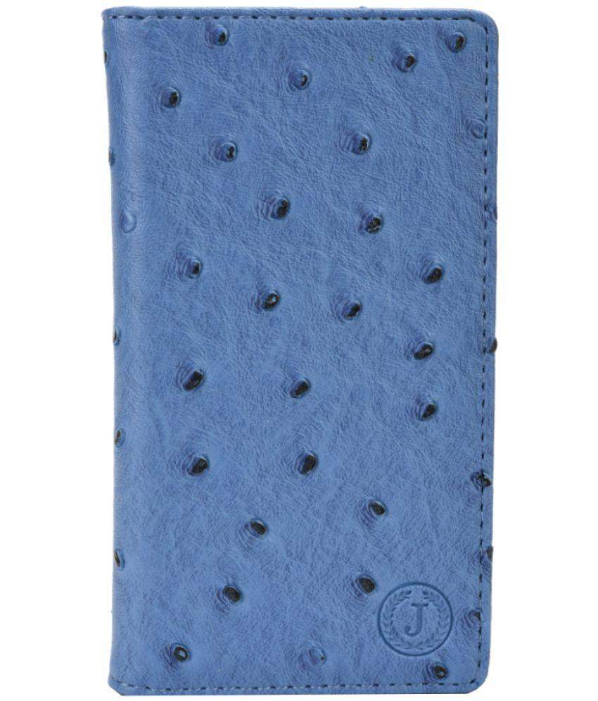 Intex Aqua Power 4G Flip Cover by Jojo - Blue