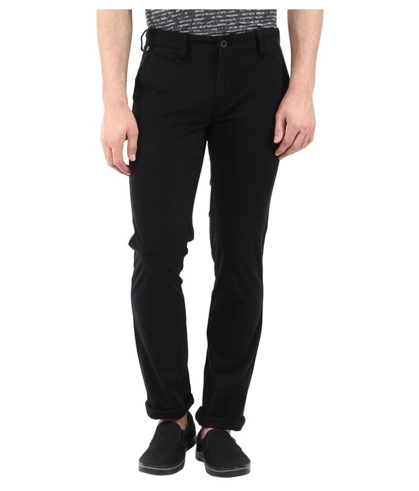 London Bridge Black Slim Flat Trouser