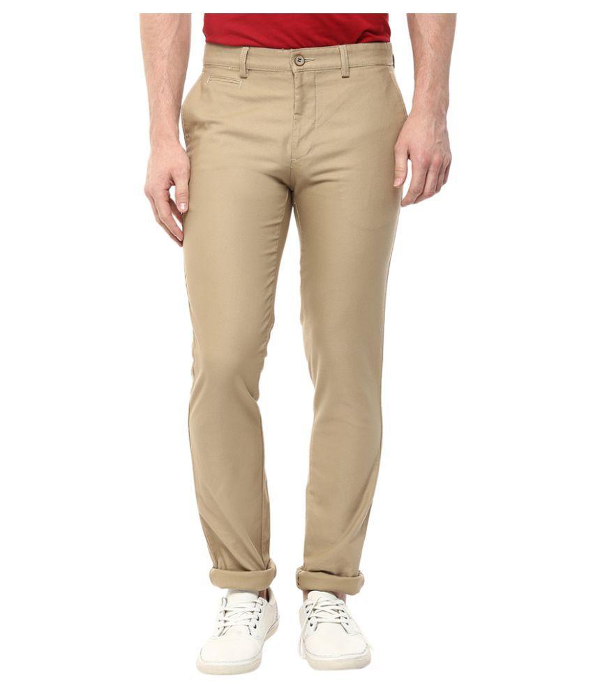 London Bridge Khaki Slim Flat Trouser