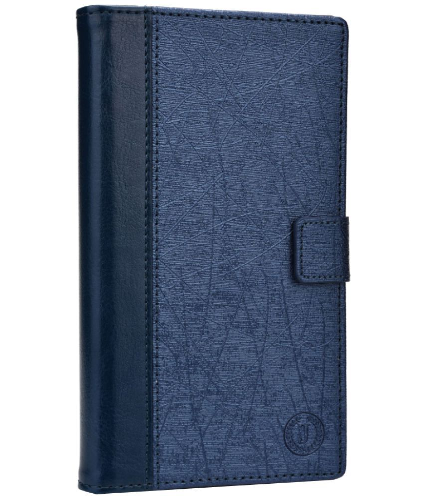 Samsung Galaxy On7 Pro Flip Cover by Jojo - Blue