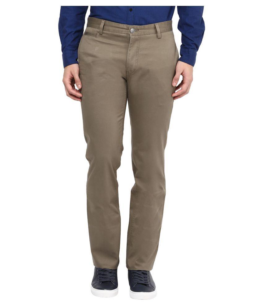 London Bridge Grey Slim Flat Trouser
