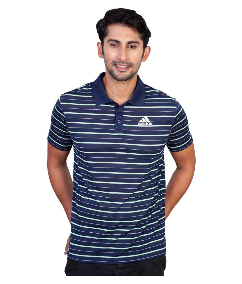 Adidas Navy Regular Fit Polo T Shirt