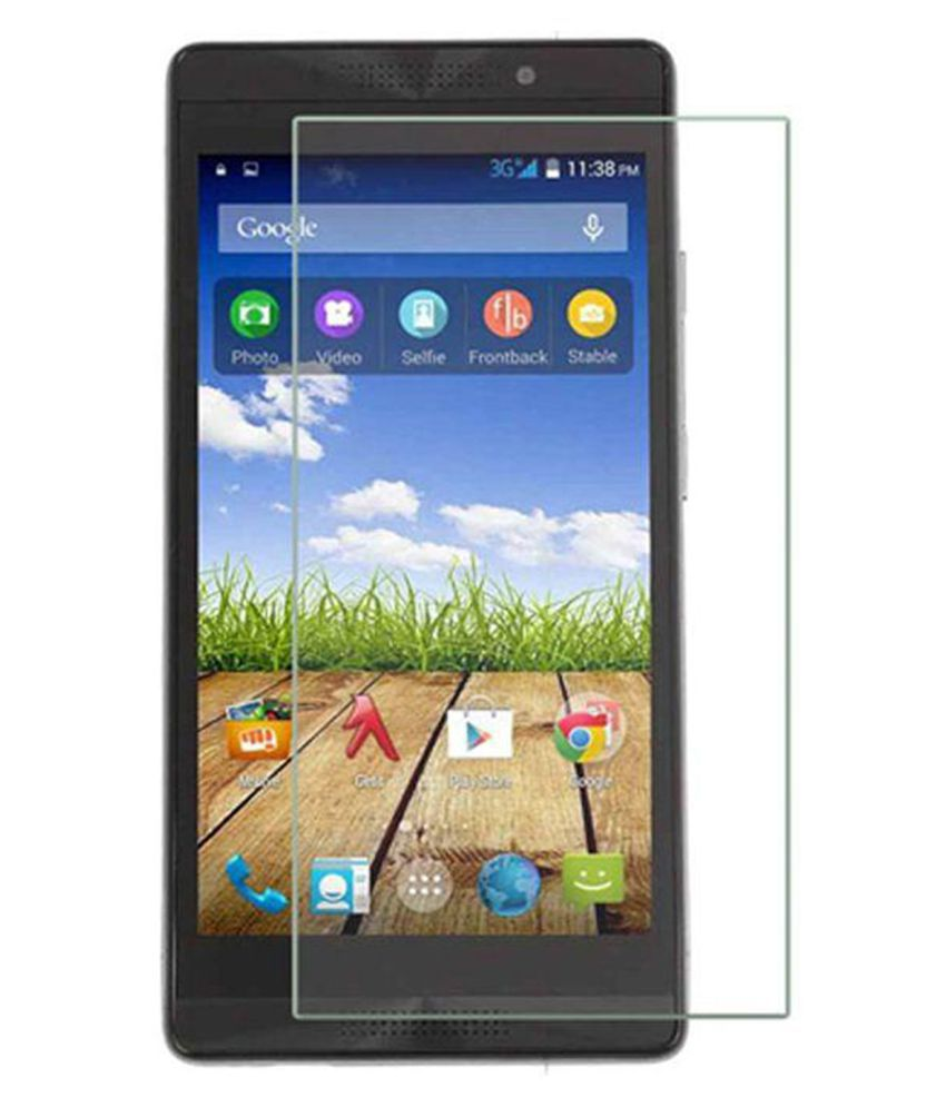 Micromax Canvas Fire 4G Plus Q412 Tempered Glass Screen Guard By Tempered glass hd