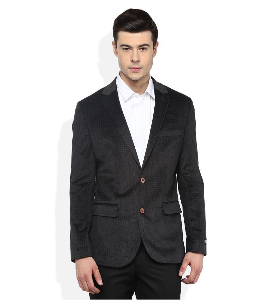 Giovani Black Self Design Party Blazers
