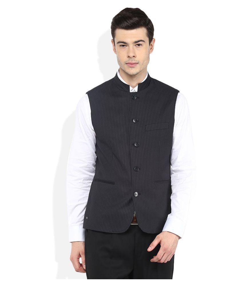 Giovani Black Striped Formal Blazers
