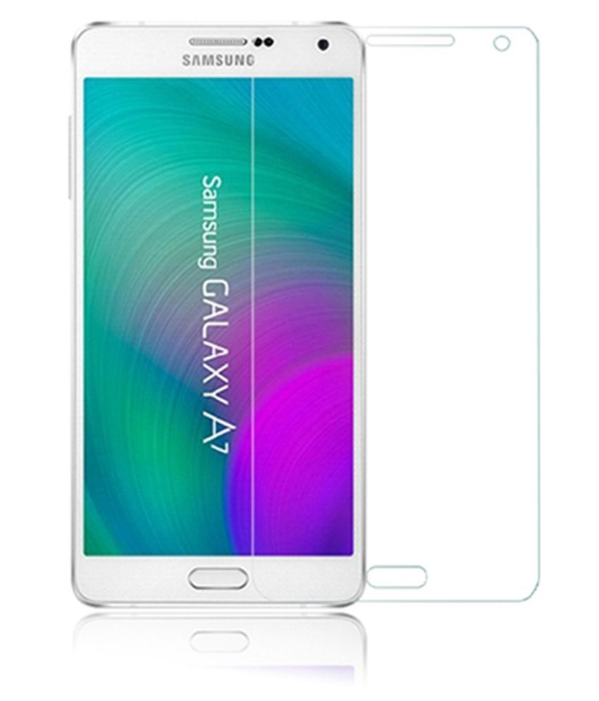 Samsung Galaxy A7 Tempered Glass Screen Guard By Tempered glass hd