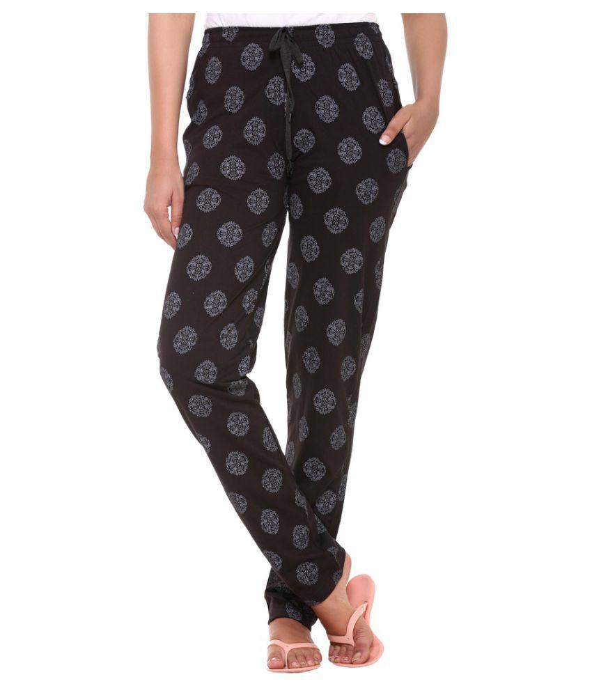 Colors & Blends Black Cotton Pajamas