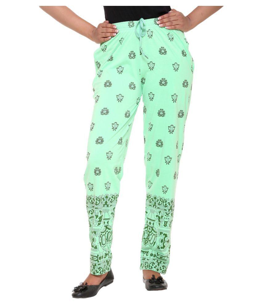 Colors & Blends Green Cotton Pajamas