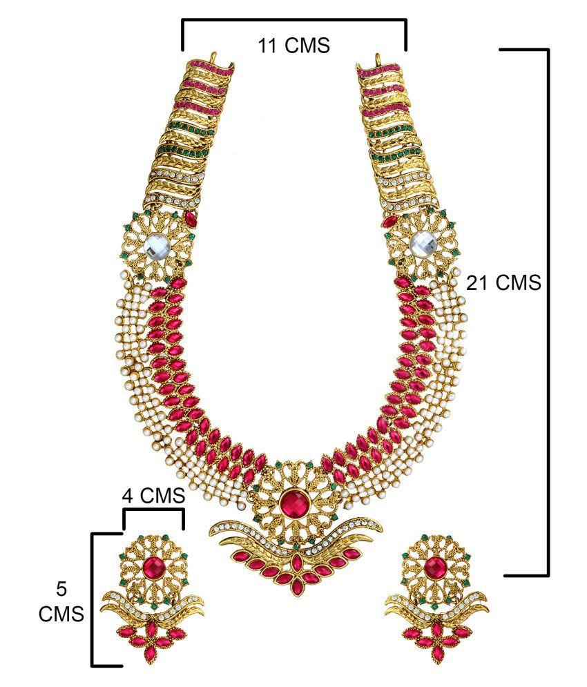 Zaveri Pearls Long Designer Pearl Set
