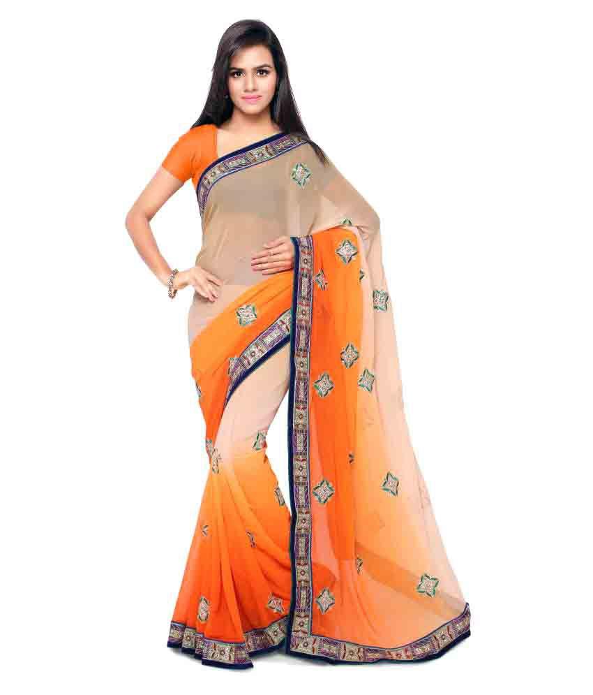 Nanda silk mills Multicoloured Georgette Saree