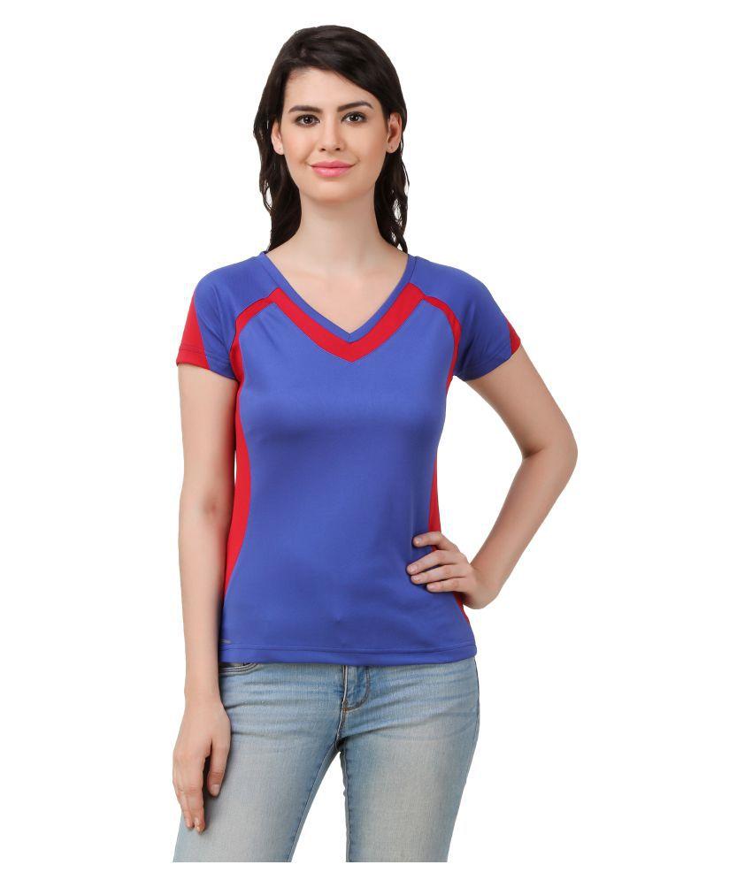 Spunk Blue Polyester T-Shirt