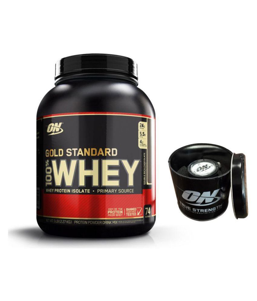 Optimum Nutrition Gold Standard 5 lb With Free On Wrist Watch By Snapdeal @ Rs.5,767