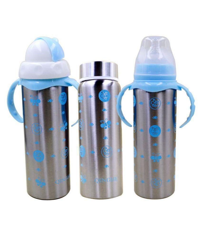 2a93fc6e0e6 N M Blue Multifunctional Baby Steel Feeding Bottle Cum Sipper Cum Straw   Buy N M Blue Multifunctional Baby Steel Feeding Bottle Cum Sipper Cum Straw  at Best ...