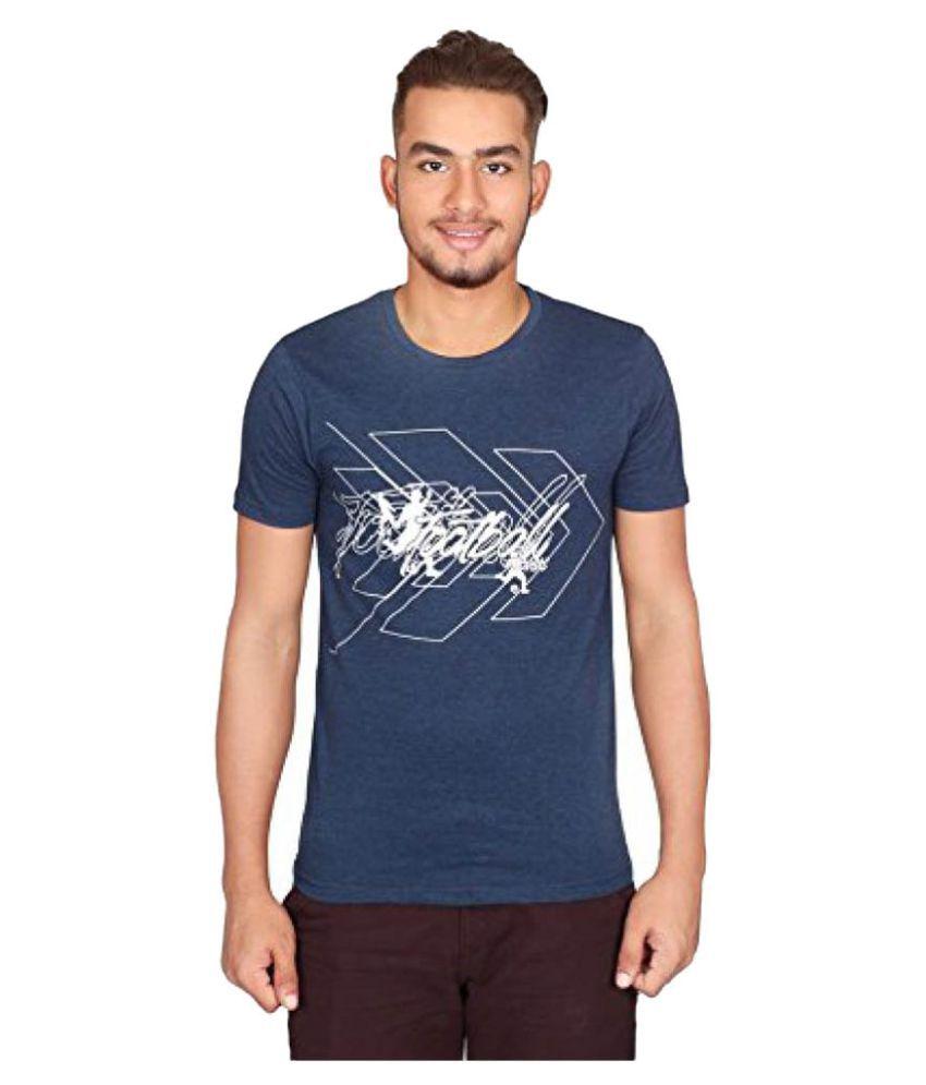 Vector X Navy Cotton T-Shirt