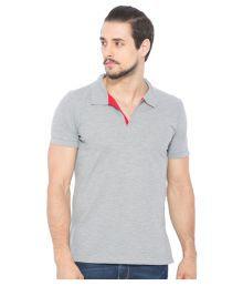 Status Quo Grey Regular Fit Polo T Shirt