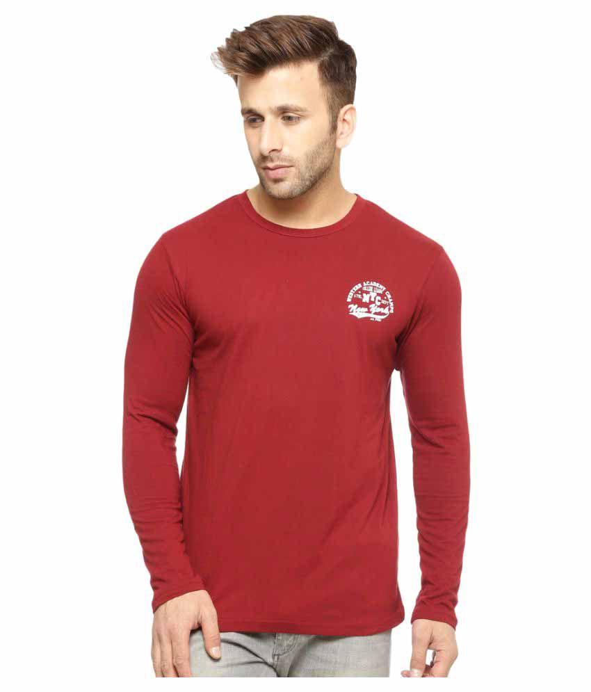 Gritstones Maroon Round T-Shirt