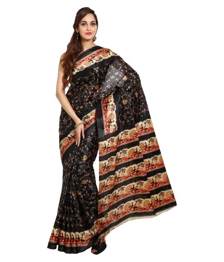 Aryahi Black Art Silk Saree