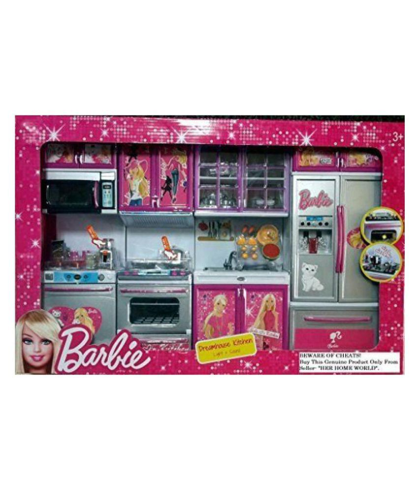 Baby N Toyys Barbie Dream House Kitchen Set Light Sound