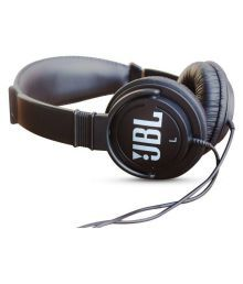 JBL On Ear Wired Headphones Without Mic Black