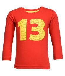 NO.99 Red 100% Cotton  Maternity Tops & Shirts