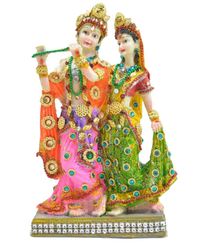 Crafts For You Radha Krishan Polyresin Idol