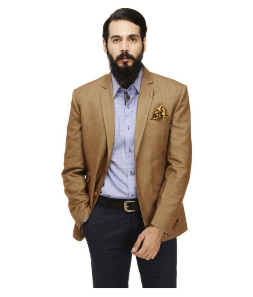 Monteil & Munero Brown Checks Casual Blazers