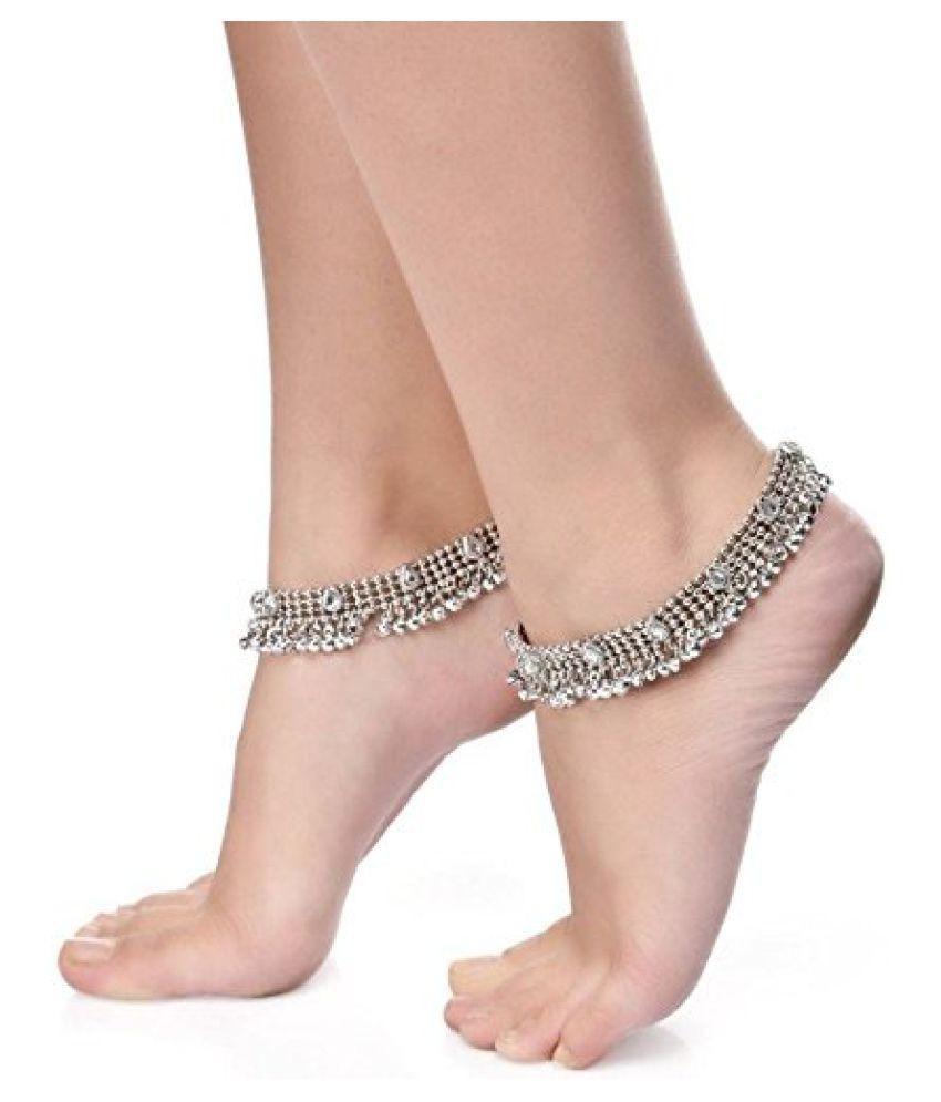 Charms Silver Designer Anklets