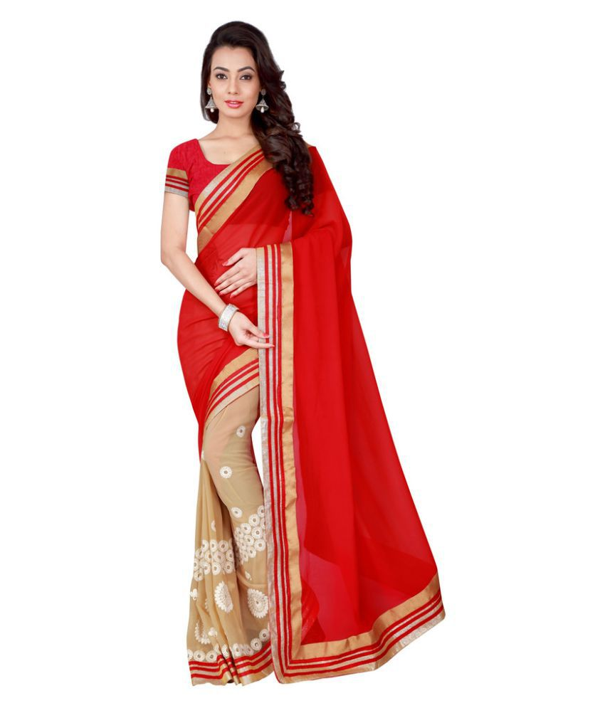 Brahmani Fabrics Multicoloured Georgette Saree