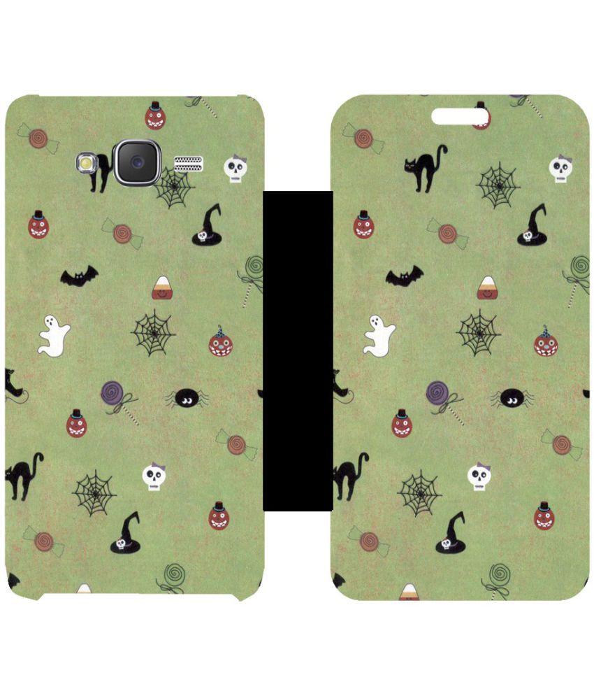 Samsung Galaxy J7 Flip Cover by Skintice - Green