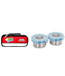 Nonu Hot Meal Tiffin/lunch Box With Stainless Steel Leak Proof Containers And Insulated Thermal Bag