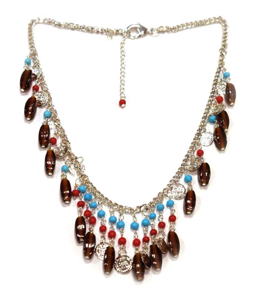 Urban-Trendz Multicolour Necklace set With Bracelet