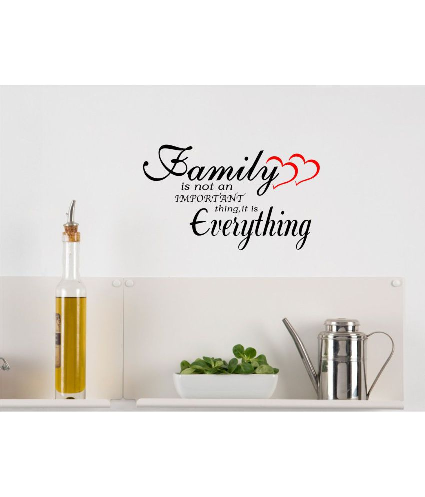 Wall Guru Family Quotes Small Black Wall Sticker Vinyl Wall Stickers