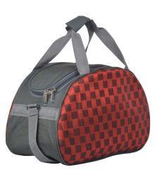 Red & Grey Duffle Bag Multi Printed Duffle Bag