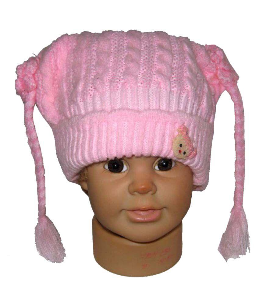 Goodluck Pink Woollen Caps