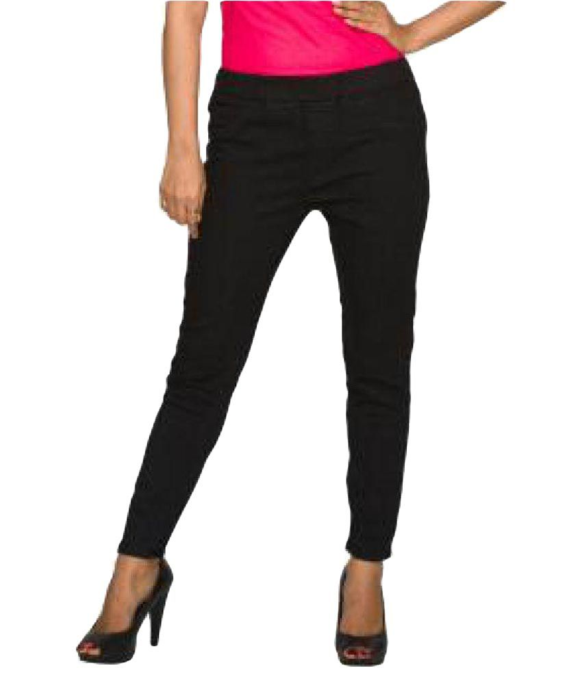 d8b44b22064135 Buy DJ&C Poly Cotton Jeggings Online at Best Prices in India - Snapdeal