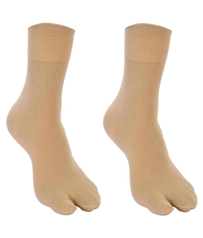 Fashion Guru Trading Beige Ankle Length Stocking