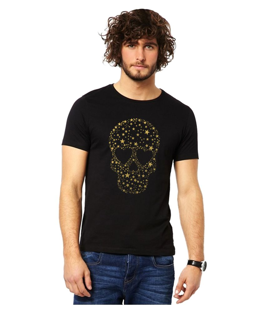 Bluehaaat Black Round T-Shirt
