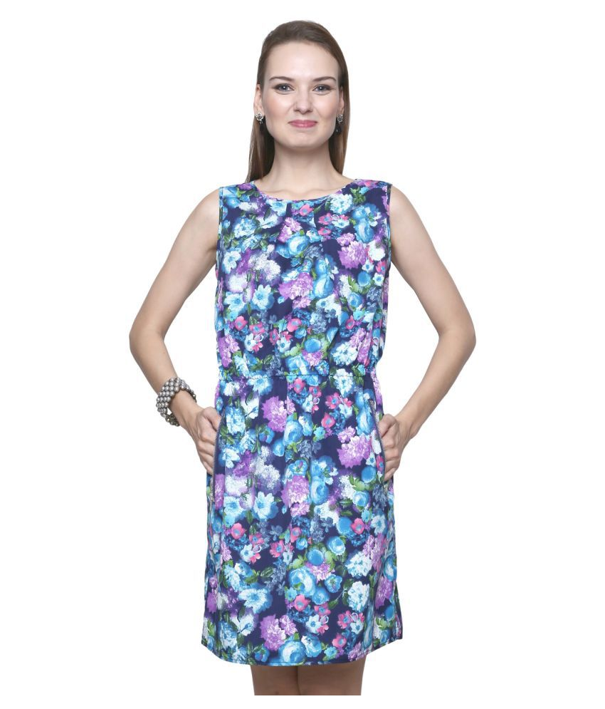 Trendsnu Poly Crepe Sheath