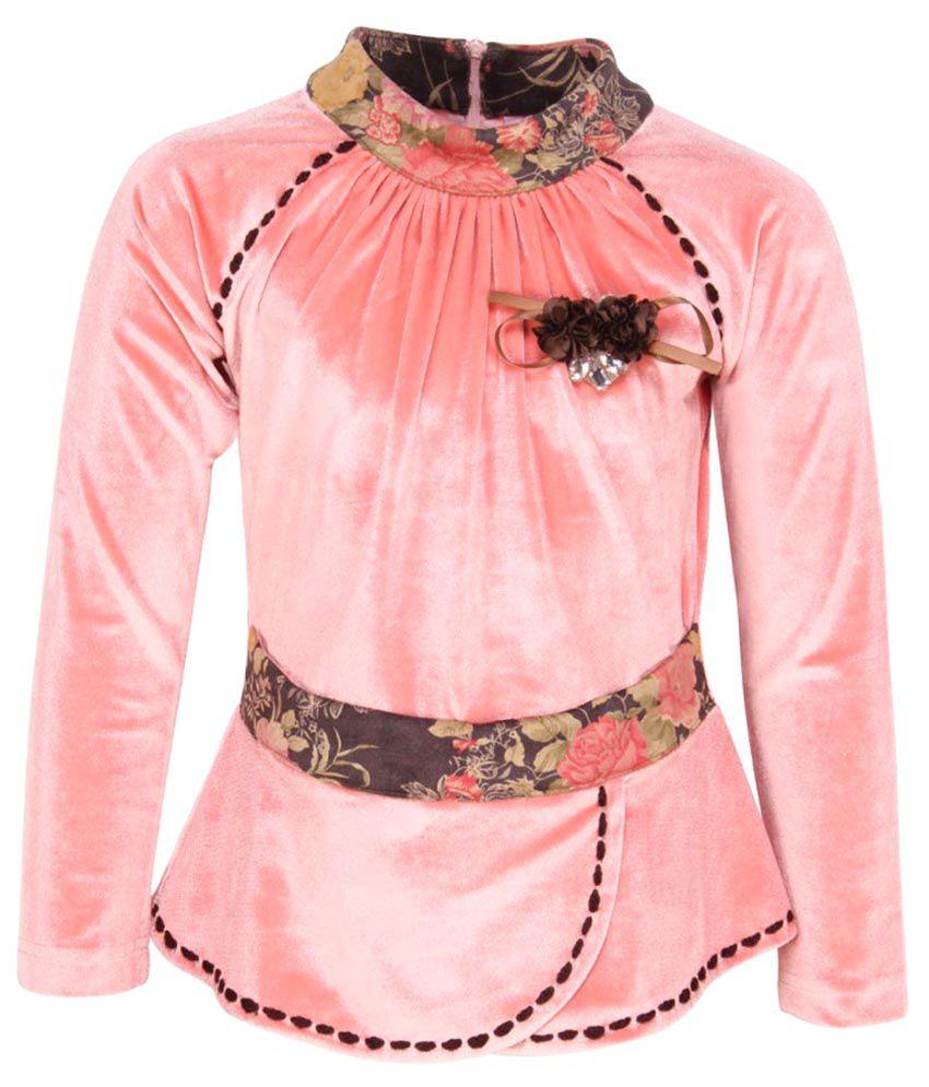 Cutecumber Girl's Dusty Pink Winter Top