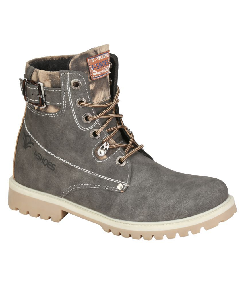 Wave Walk Green Casual Boot