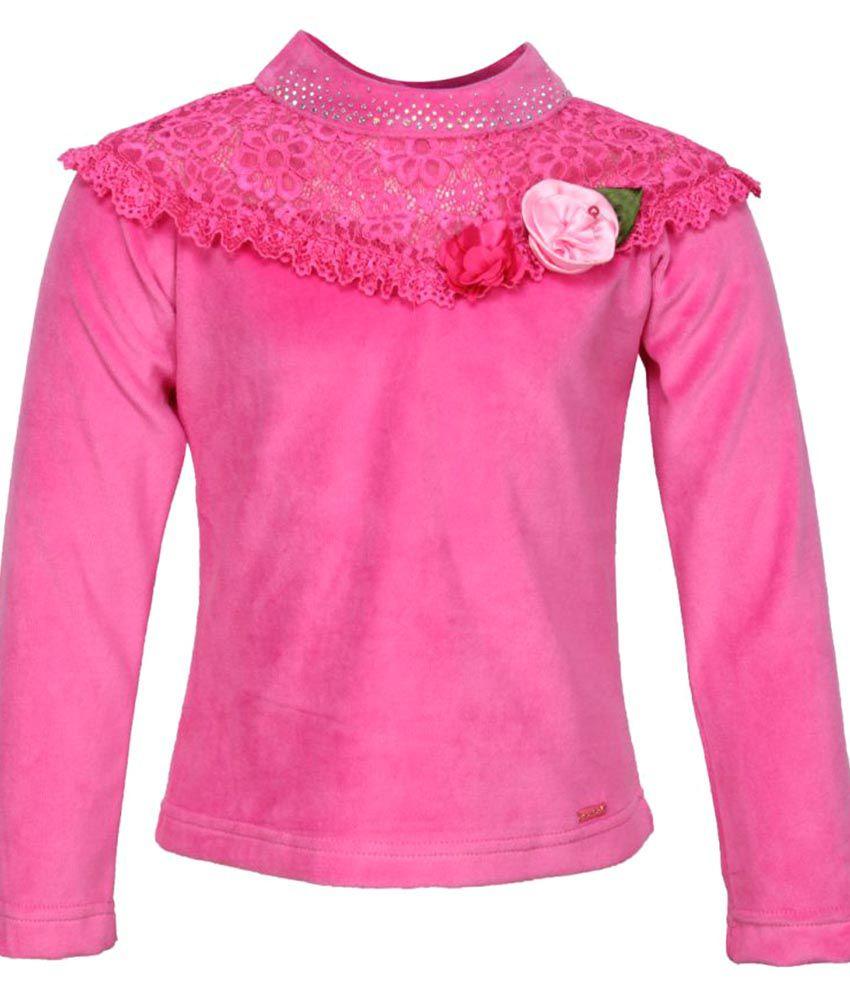 Cutecumber Giil's Pink Winter Top