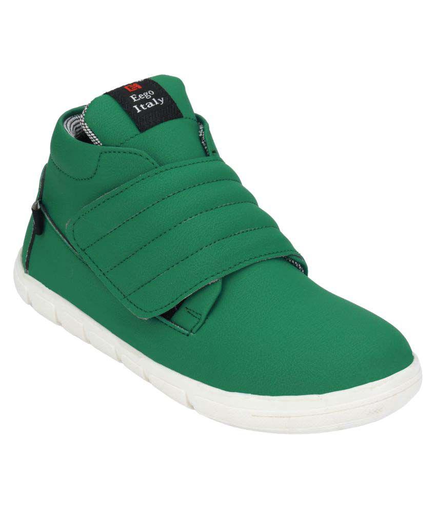 Wave Walk Green Casual Boot