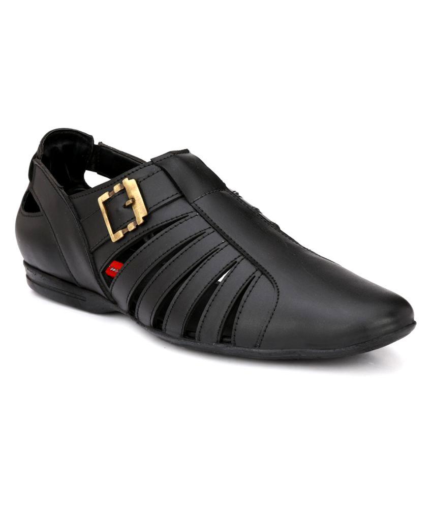 22822284f7d4f Wave Walk Stylish Sandal Black Sandals Price in India- Buy Wave Walk Stylish  Sandal Black Sandals Online at Snapdeal
