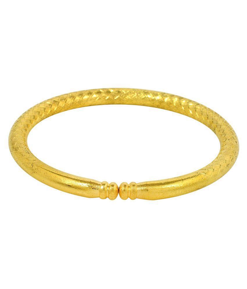 Memoir Gold Alloy Tube Shape Design Adjustable Kada