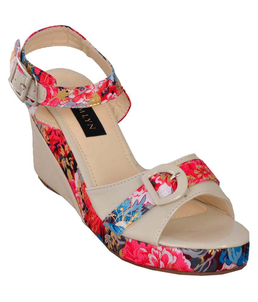Hamlyn Shoes Multi Color Wedges Heels