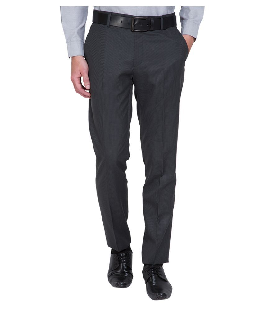 Black Coffee Black Slim Flat Trouser