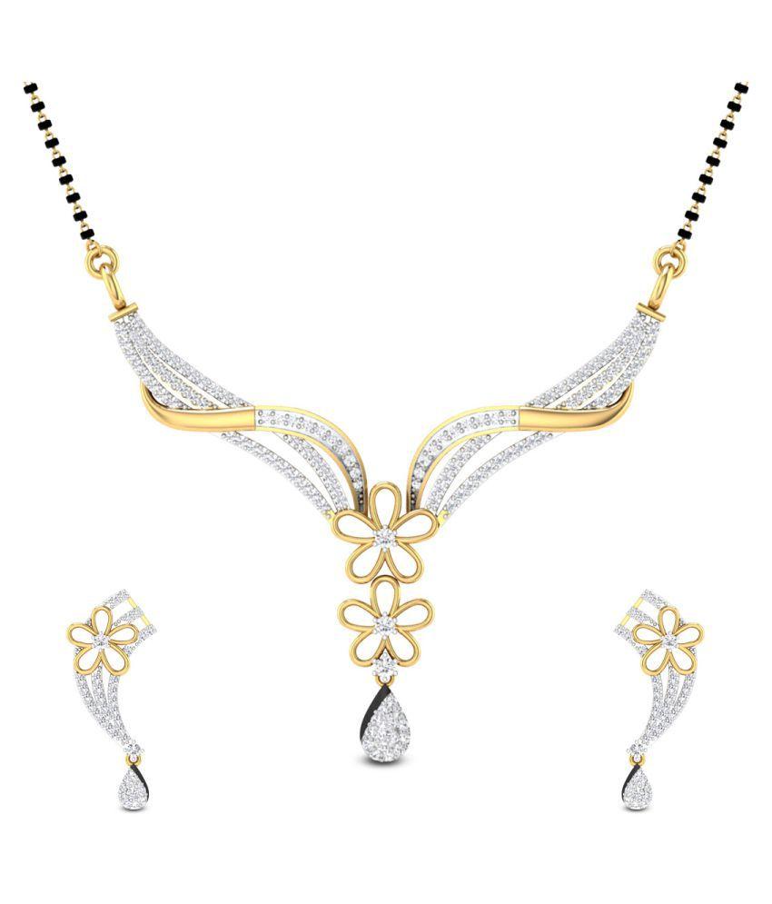Zaamor Diamonds 18k Yellow Gold Diamond Mangalsutra set